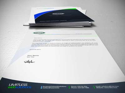 Look professional with custom letterhead for your business.