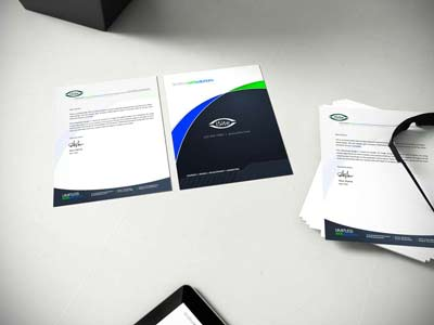 Let us design custom folders and stationary for your business.